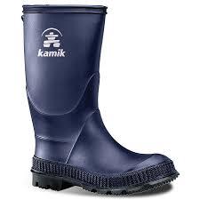 Kamik Stomp Kids Rain Boots Boys Size 3 Blue In 2019