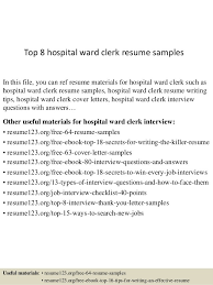 Unit Clerk Cover Letter Nursing Unit Clerk Sample Resume Mwb Online Co