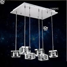 modern upscale atmosphere lighting restaurant lights crystal chandelier three simple rectangular led chandelier lightingchina cheap chandelier lighting