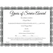 Years Of Service Award Wording Years Service Award Certificate Template Of Wording Tatilvillamco