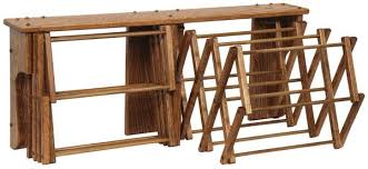 oak wood double wall drying rack from