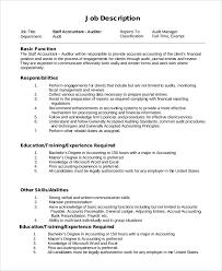 Sample Staff Accountant Job Description 9 Examples In Pdf