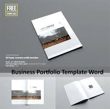 Business Portfolio Template Business Portfolio Template Word Company Profile Template