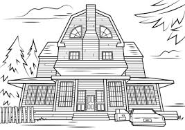 Small Picture Scary Haunted House coloring page Free Printable Coloring Pages