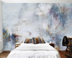 Aangepaste Behang 3d Stereo Abstracte Lotus Olieverf Modern Art Wall