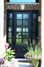 wooden front door with glass doors panels wood uk