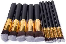 kabuki makeup brush set. puna kabuki makeup brush set with leather bag in