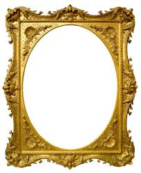 antique frame. An English Carved And Gilded Swept Rococo Frame With Oval Aperture, Mid 18th Century Antique E