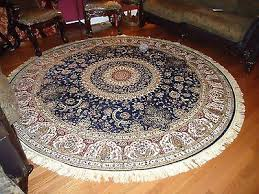 persian silk rugs 6 round rugs navy silk rug circle blue carpet tabriz 5