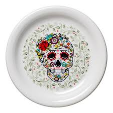 Patterned Dinnerware Delectable SKULL AND VINE Fiesta Factory Direct