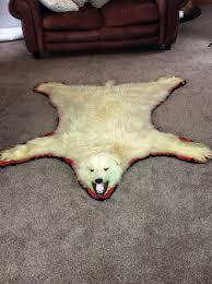 polar bear rugs with head