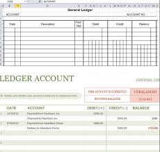 accounting excel template general ledger excel template bookkeeping excel template excel
