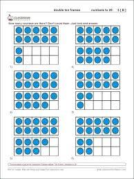 10 frame worksheets double printable free kindergarten ten