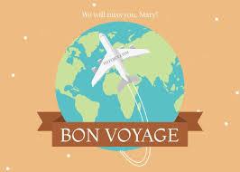 Bon Voyage Greeting Card Template Template | Fotojet