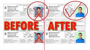National University Admission Cancel Photo Change Info Change