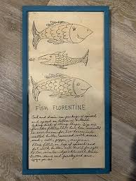 Jacque Pati Design Soovia Janis Fish Florentine Art Print Blue ...