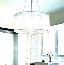 crystal chandelier with drum shade inch white