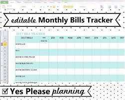 Excel Bill Tracker Template 2019 Monthly Bill Tracker Home Utilities Bill Payment Log