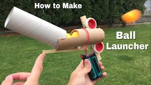 how to make ping pong ball launcher at home full auto electric machine