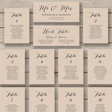 Calligraphy Wedding Seating Chart Wedding Seating Chart Template Printable Seating Chart