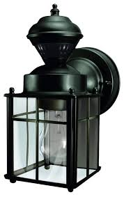 heath zenith hz 4132 bayside 1 light 150 degree motion activated outdoor wall sc black
