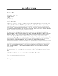 Financial Analyst Cover Letter Resume Samples