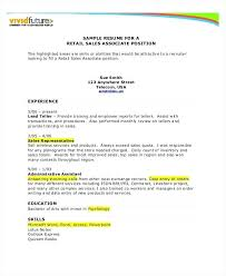 Retail Resumes Sales Associate Sales Associate Skills Resume Samples Example For Cashier Retail