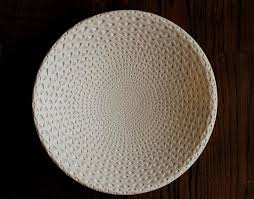 Michael Wisner Michael Wisner White Oval Bowl Clay Sculpture For Sale At 1stdibs