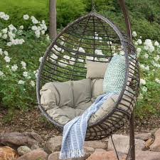 outside swing chair. Interior, Weller Outdoor Wicker Basket Swing Chair With Stand Reviews Joss Artistic Trending 9: Outside