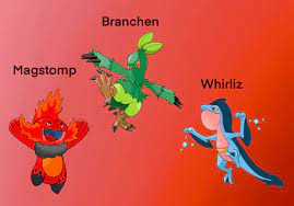 Gen 3 Starter Secondary Evolutions with alternate types! A continuation of  my previous post. Art done by me using the official artwork as a base.:  pokemon