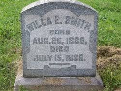 """Wilhelmina Evangeline """"Willa"""" Smith (1886-1888) - Find A Grave Memorial"""