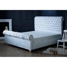 white velvet bed. Perfect Velvet White Velvet Bed Frame  Double For H
