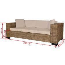 Vidaxl Sofa Set Rattan 2 Und 3 Sitzer Loungesofa Couch