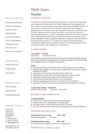 Sample Resumes For Teachers 21 Teaching Cv Template Job Description