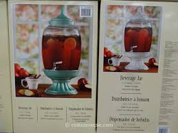 glass beverage jar with ceramic base costco 3
