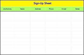 volunteer sign up sheet templates class sign up sheet template metabots co