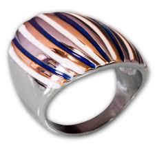 Moderner Designer Schmuck Moderner Designer Edelstahl Ring Muliticolor