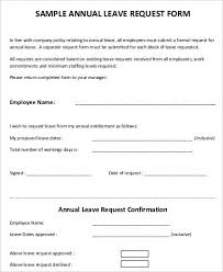 Leave Request Form Sample Impressive Employee Leave Format Ceriunicaasl