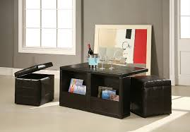 com william s home furnishing coffee table with storage stools kitchen dining coffee table with ottomans