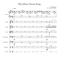 The Office Theme Song Sheet Music For Piano Violin Viola