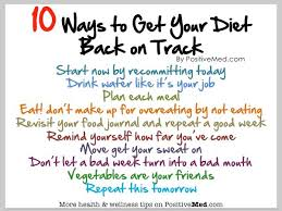 Ten Ways to Get Your Diet Back on Track