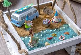 create your own beach fairy garden and bring a sense of seaside enchantment to your home