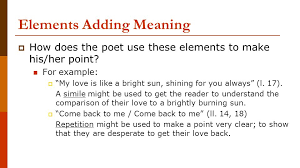 poetry analysis essay ppt video online 4 elements adding meaning