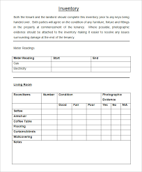 Property Inventory Template Free Download Landlord Inventory Template 8 Free Word Documents Download Free