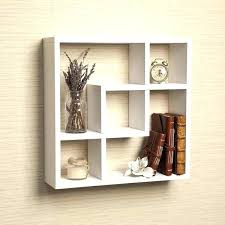 decorative cube wall shelves intersecting shelf white square shelving display modern box
