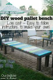 diy wood pallet furniture. How To Make Simple DIY Wood Pallet Bench. Low Cost And Way Add Diy Furniture