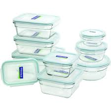 6 glasslock 18 piece assorted oven safe container