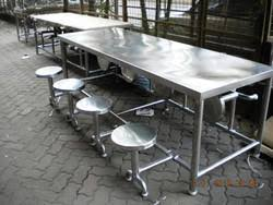 commercial dining tables and chairs. 8 Seater Full SS Folding Type Dining Table Commercial Tables And Chairs A