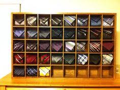 pigeon holes for ties shop display - Google Search