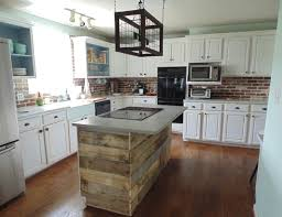 custom reclaimed wood interest wall or island covering wonderland in kitchen
